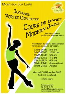 Affiche porte ouverte danse dec 2013
