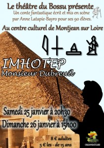 Affiche Imhotep Monsieur Dubreuil