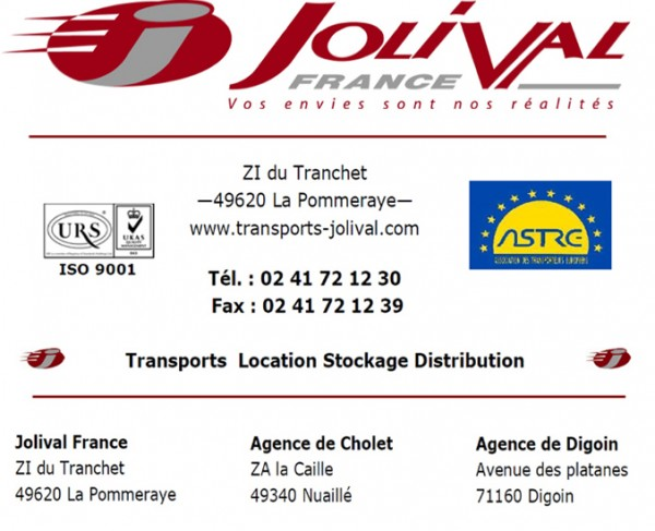 Jolival France - Transport - Stockage