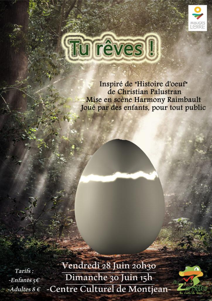 "Affiche spectacle enfant juin 2019 ""Tu rêves"""